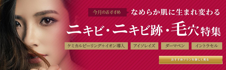 ニキビ・ニキビ跡・毛穴特集