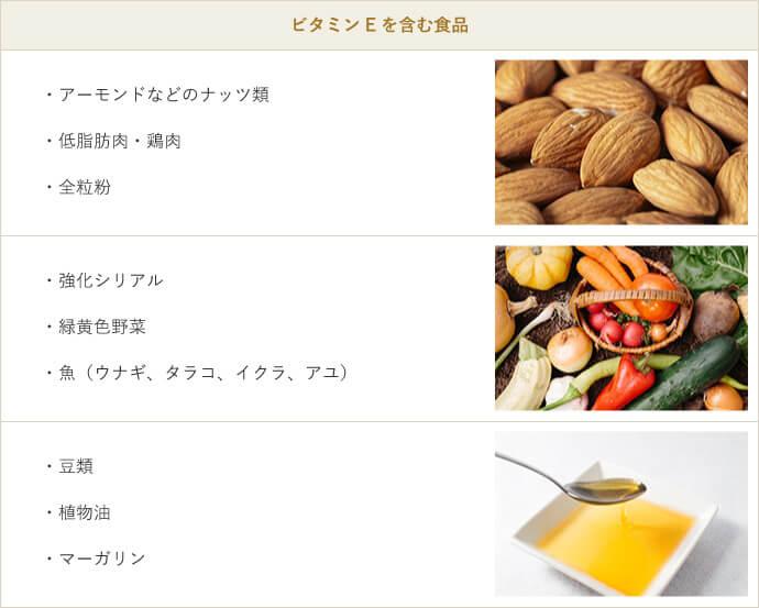 ビタミンE を含む食品
